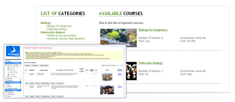 Course administration | PG Online Training Solution