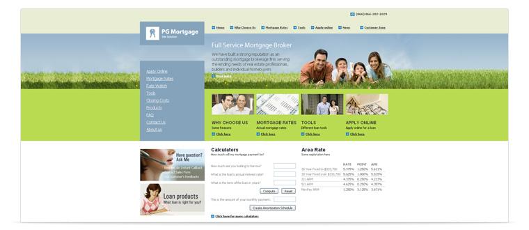 PG Mortgage Web Site Solution | Mortgage software & mortgage website design