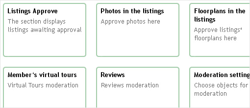 Moderation. Real estate portal and FSBO | Property rental script features