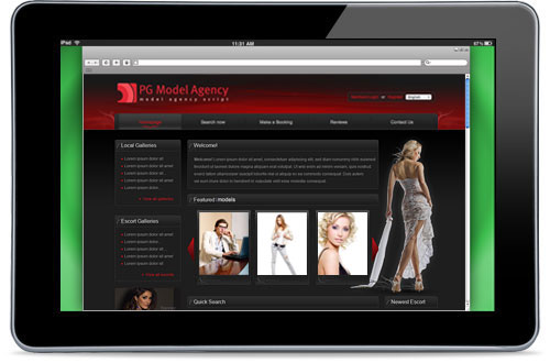 Start your own modeling agency website today!